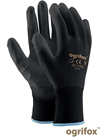 24 pares de guantes de seguridad con revestimiento negro, para trabajo en jardín o construcción
