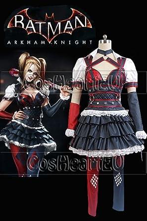 a7ff25584e7af Batman: Arkham Knight Harley Quinn Dress Cosplay Costume european adult  woman size