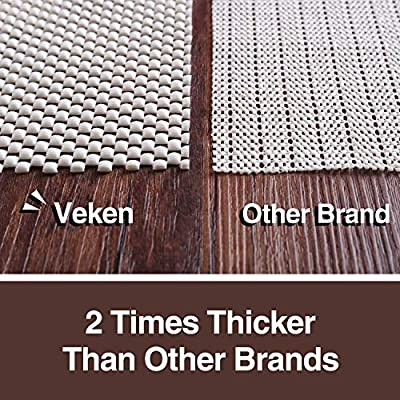 Veken Non-Slip Rug Pad Gripper Extra Thick Pad for Any Hard Surface Floors, Keep Your Rugs Safe and in Place