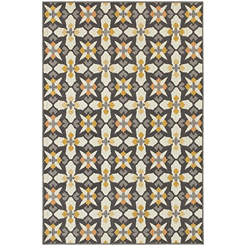 Moretti Scarborough Area Rug 8021L Grey Boxes Blocks 7' 10