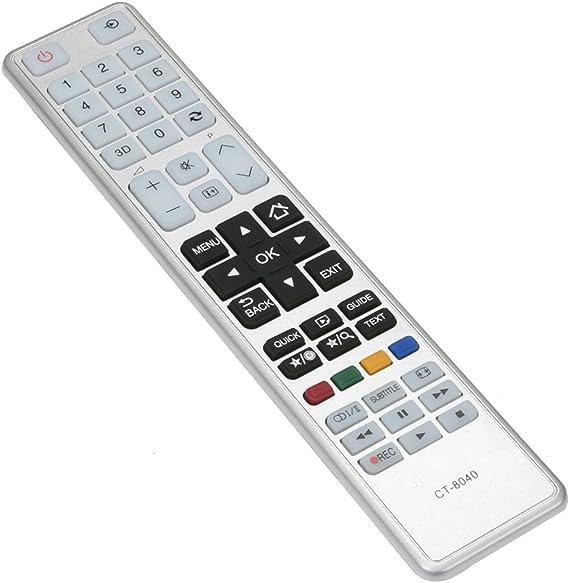 T/él/écommande de remplacement pour Toshiba CT-8040 CT8040 75038887 LCD LED 3D TV t/él/éviseur L1278