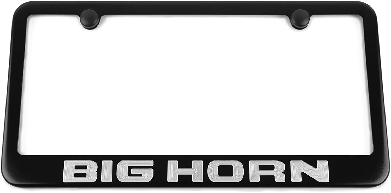 Ram Hemi Bottom Engraved Chrome Plated Metal License Plate Frame Holder 4 Hole