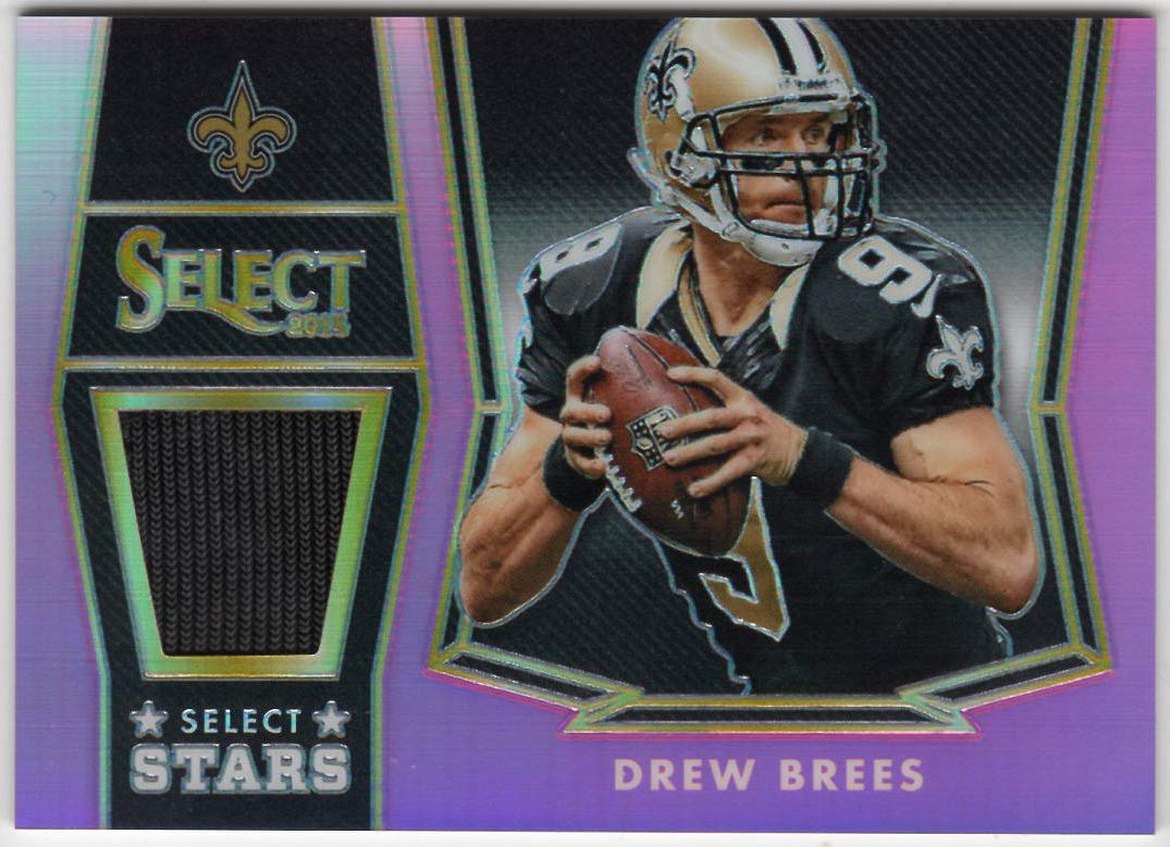 Drew Brees 2014 Panini Select Stars Fuchsia Prizm Refractor Jersey Card Serial #71//99 New Orleans Saints