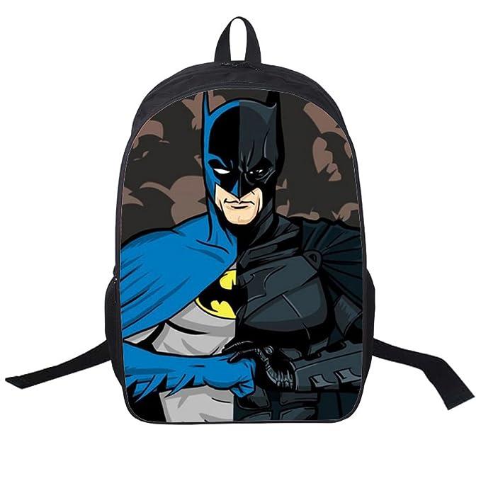 0e730462859d YOURNELO Kid s Cute 3D Marvel Batman Print Lightweight School Backpack  Rucksack (Batman5)