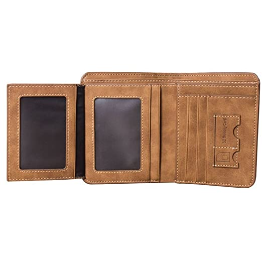 64497a78f8a2 Mens Luxury Slim Leather Wallet Credit Card Holder Purse Clutch Boys ...
