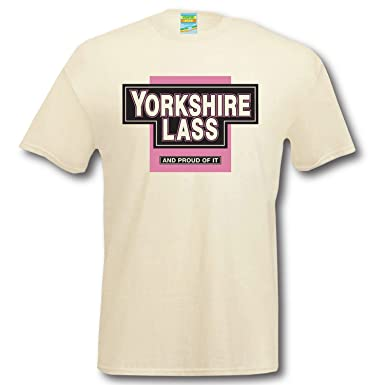 394f01f9 Yorkshire Lass t-Shirt Apparel tee Shirt Clothing Funny humourous top Hen  Night for her White: Amazon.co.uk: Clothing