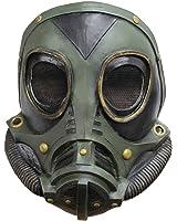 vert masque à gaz de latex steampunk