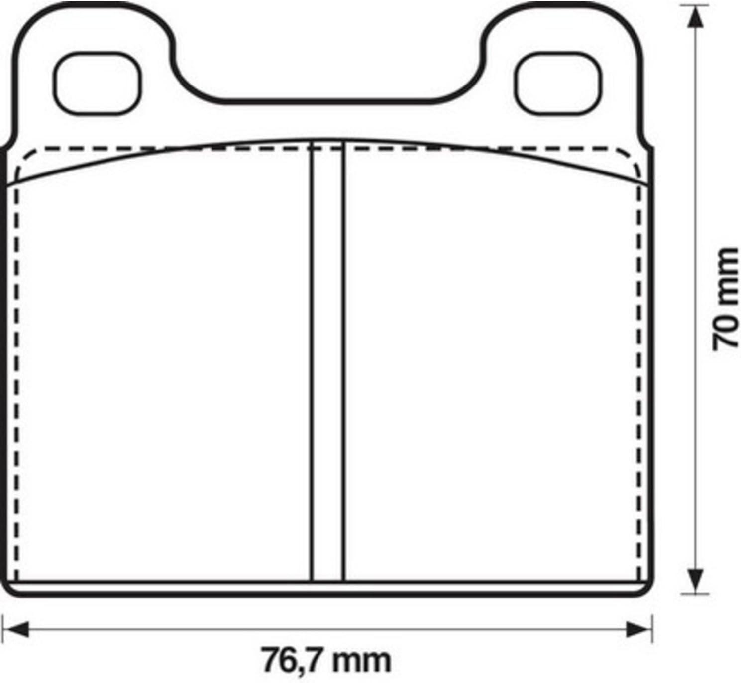 Jurid 571215J Brake Pad Set