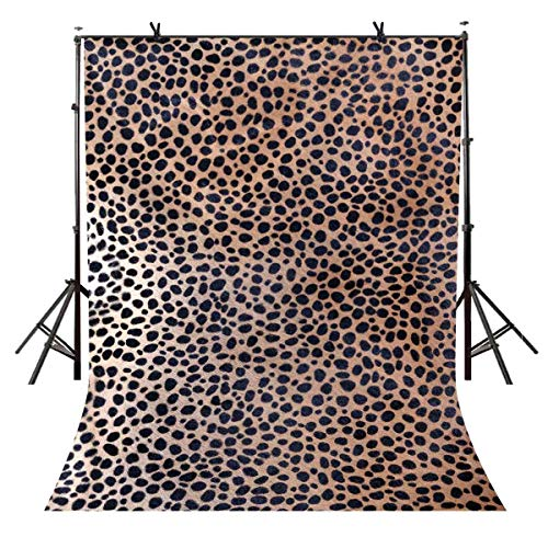 (LYLYCTY 5x7ft Leopard Backdrop Bottom of The Yellow Brown Black Spots Photography Backdrop Polyester Photo Photography Background Interior Decoration Wallpaper LYGE890)