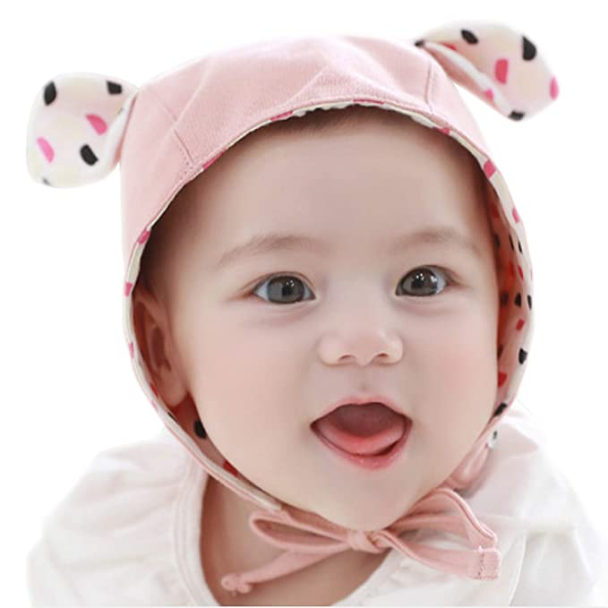 f9e2ad1fb81b0b Happy Tree Baby Hat Cute Bear Bonnet Soft 100% Cotton Toddler Infant Beanie  Pilot Caps