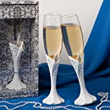 Calla lily design toasting flutes, 1 piece, Health Care Stuffs