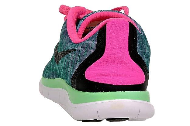 Nike Women's WMNS Free 4.0 Print, RDNT EmeraldBlack Mint Pink Power