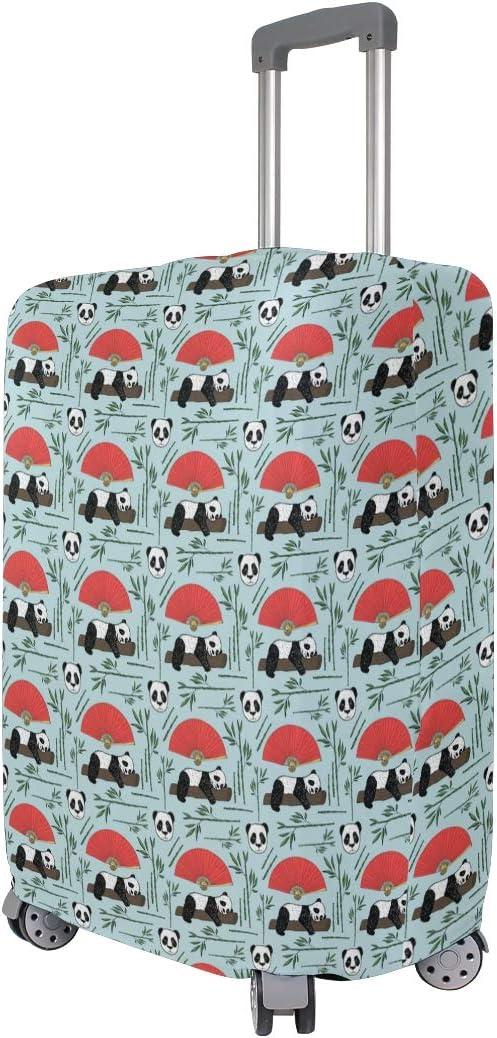 Fashion Travel Panda Art Chinese Style Luggage Suitcase Protector Washable Baggage Covers