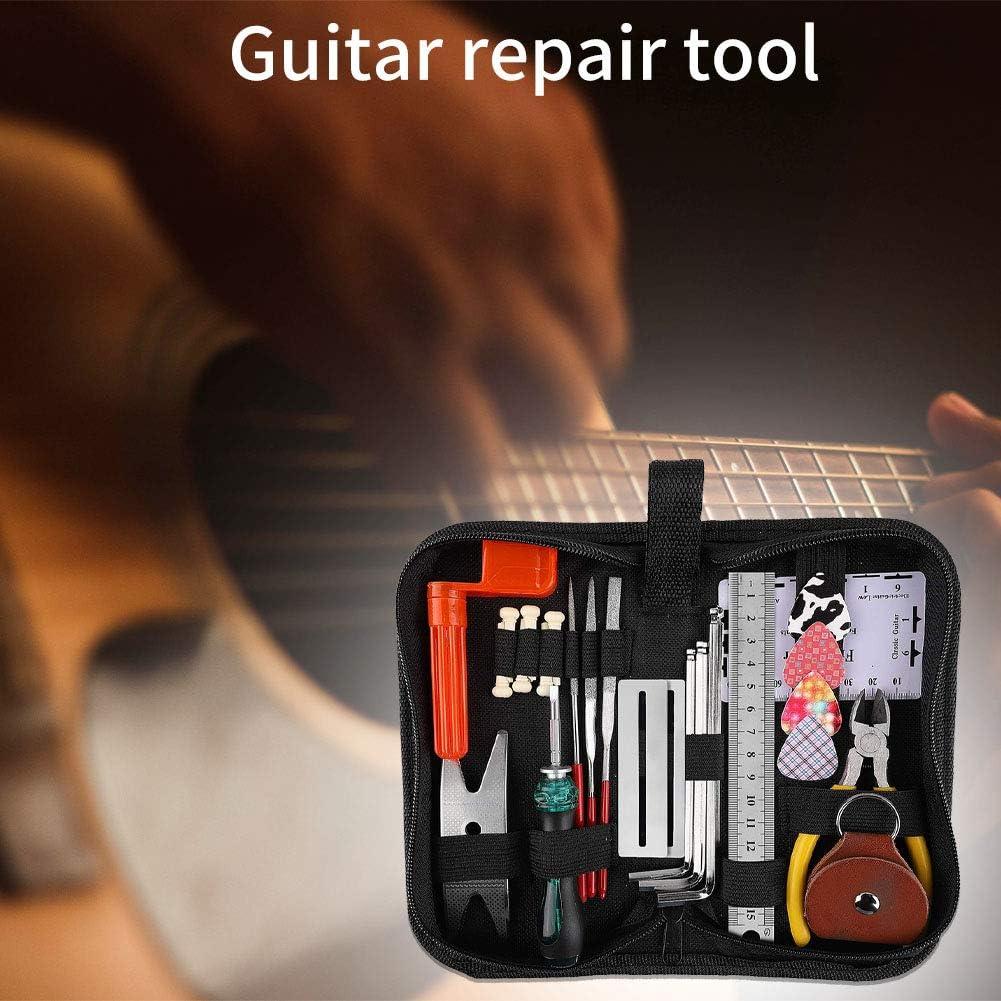 ukul/él/é mandoline HINMAY Kit de soins de guitare complet avec pinces pour basse /électrique Luthier professionnel Outils de r/éparation de guitare Kit de soins pour guitare basse
