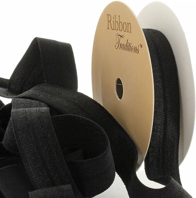 Elastic Headband in Black Chevron For Girls Interchangeable Foldover Elastic
