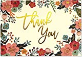 Best Peter Pauper Press Stationeries - Floral Frame Thank You Notes Review