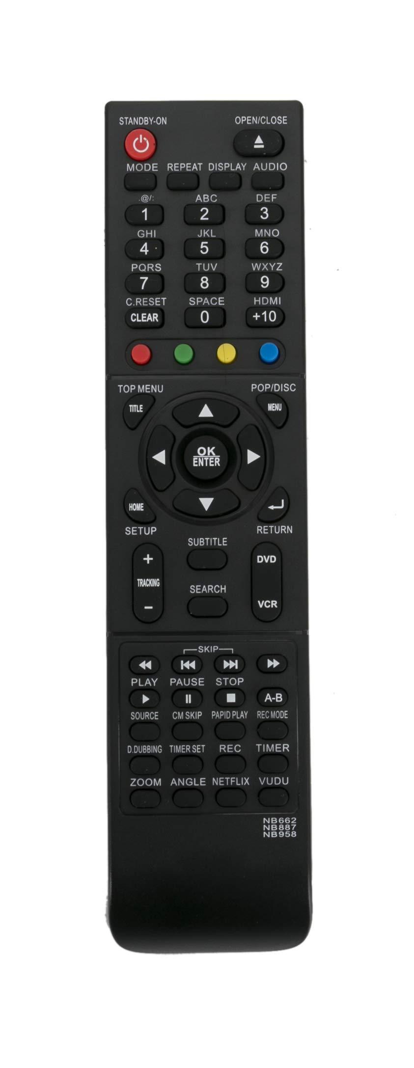 Control Remoto NB662 NB887 NB958 MAGNAVOX DVD VCR RZV427M...