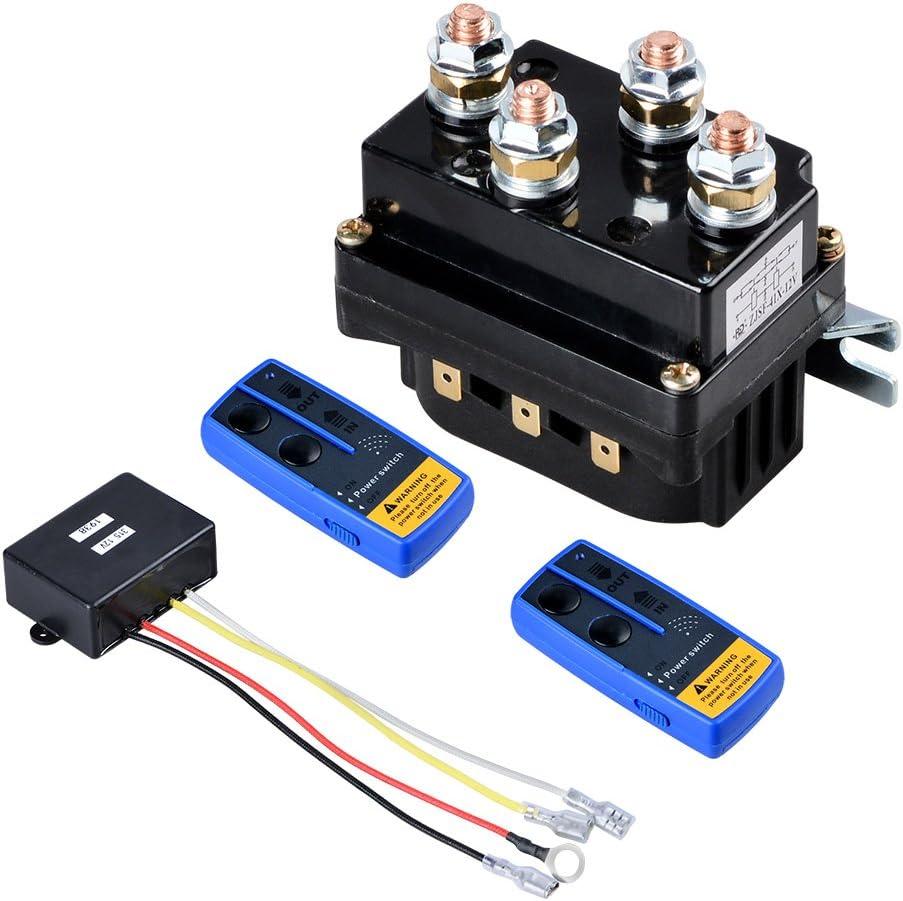 amazon.com: set of 12v winch solenoid relay contactor relay + ... 12v winch solenoid wiring diagram  amazon.com