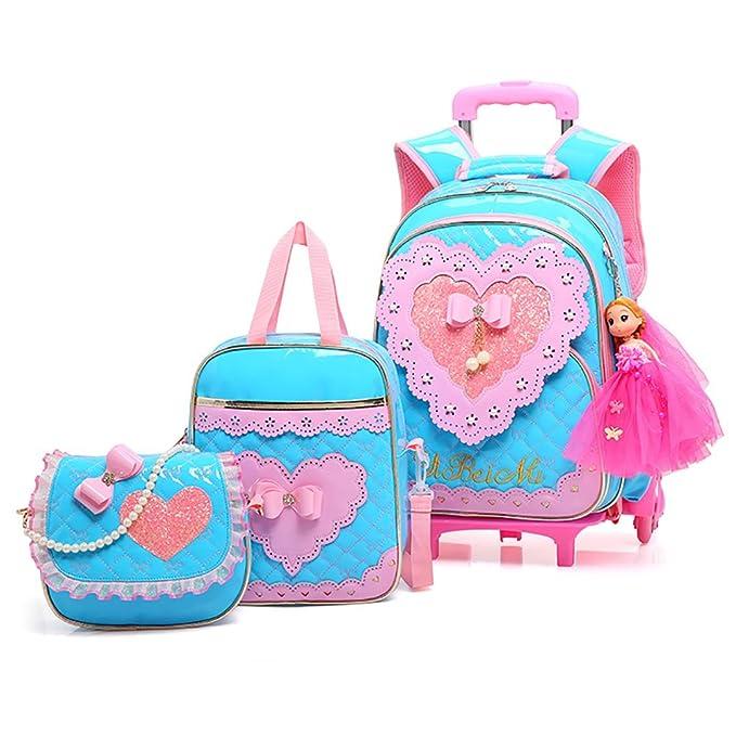 Amazon.com: Meetbelify Mochila con ruedas para niñas con ...