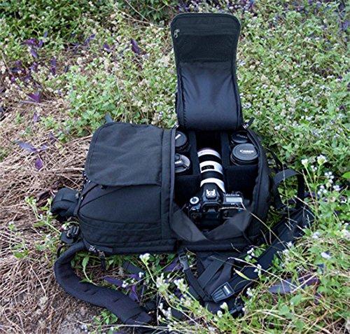 Z&HXsacchetto di spalla casuale impermeabile moda multifunzionale Fotografia borse fotocamera reflex , wine red