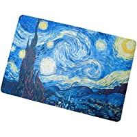 My Daily Starry Night Oil Painting Doormat 15.7 x 23.6 inch, Living Room Bedroom Kitchen Bathroom Decorative