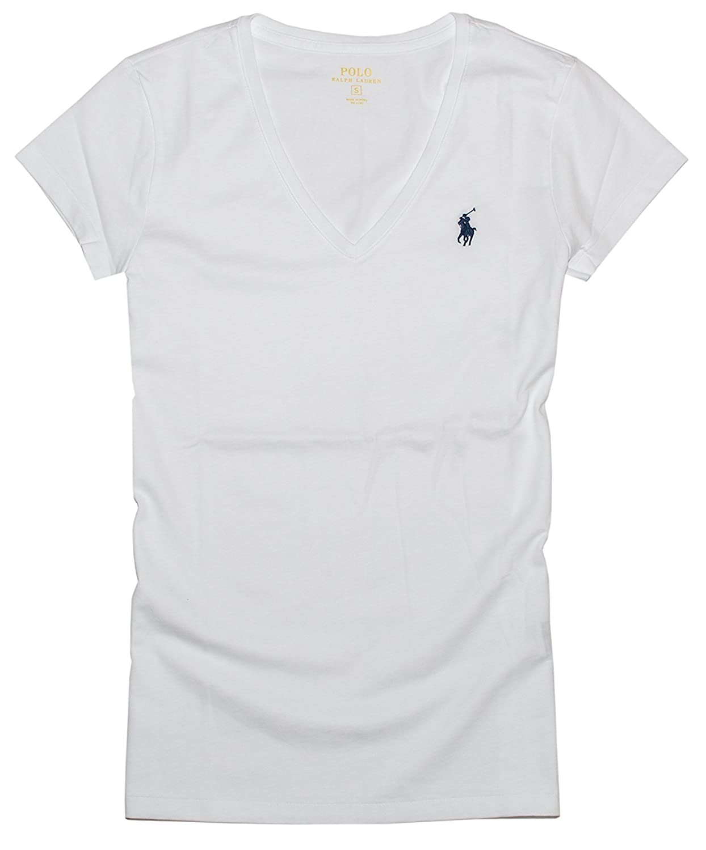 Polo Ralph Lauren Mujer Pony Logo Camiseta de Cuello: Amazon.es ...