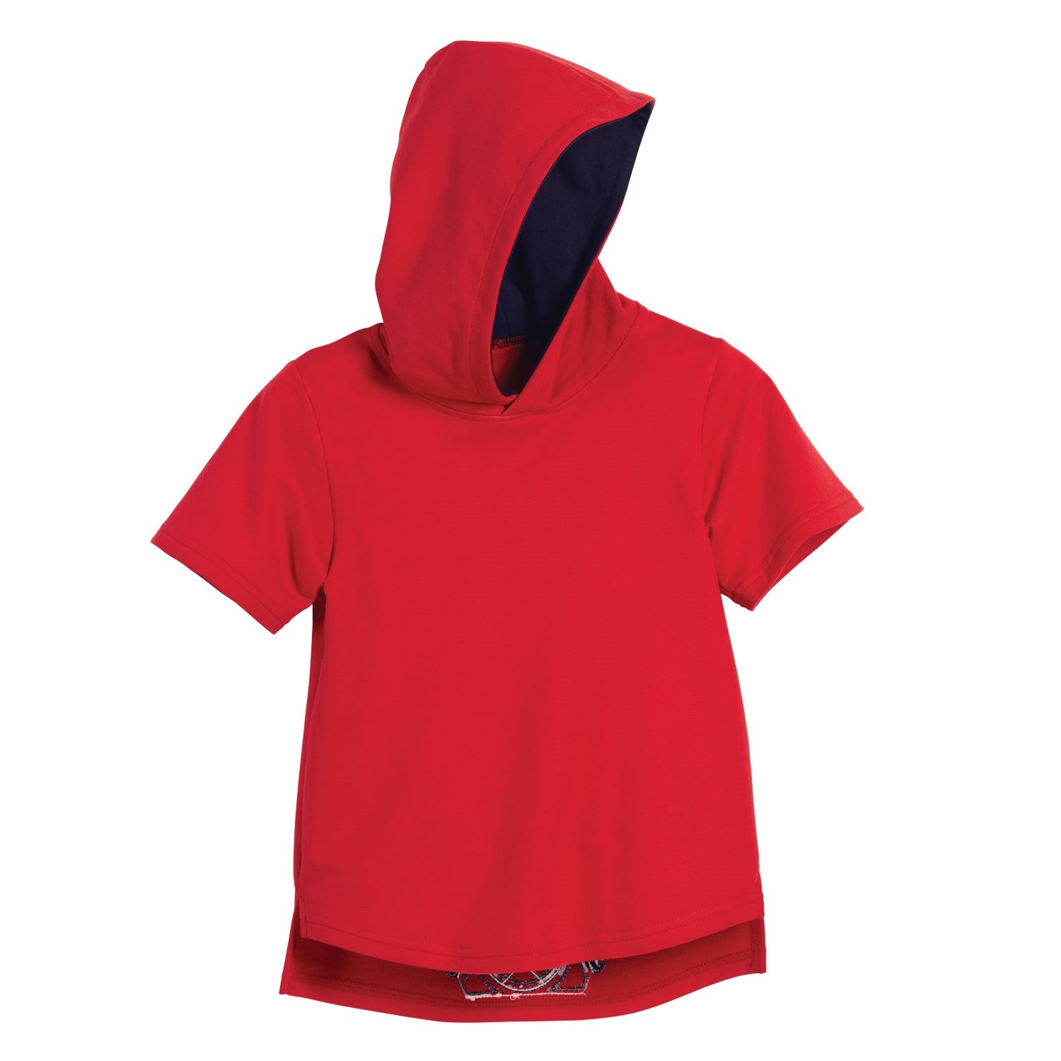 Beachcombers Boy's Tops Cotton Polyester Scuba Contrast Hoody Red
