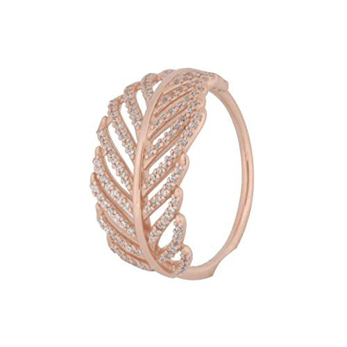7f10f9d637474 Authentic PANDORA Rose Gold Ring Light as a Feather 180886CZ-48 ...