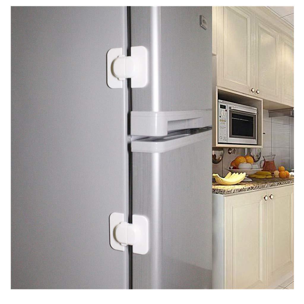 Amaping 1PCS/10 PCS Fridge Cabinet Baby Safety Door Lock Proof Climbing Pinching Prevention (10)
