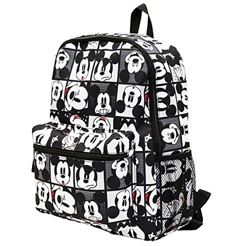 (Disney Kids' Mickey Mouse All Over Print Backpack, Black One Size)