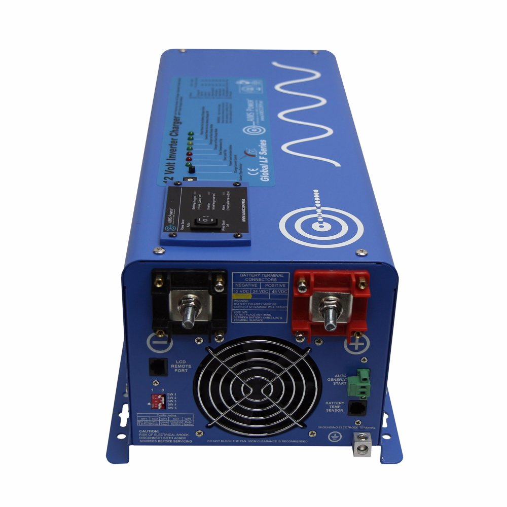 AIMS Power 3000 Watt 12V Pure Sine Inverter Charger w/ 9000W Surge by AIMS Power (Image #2)