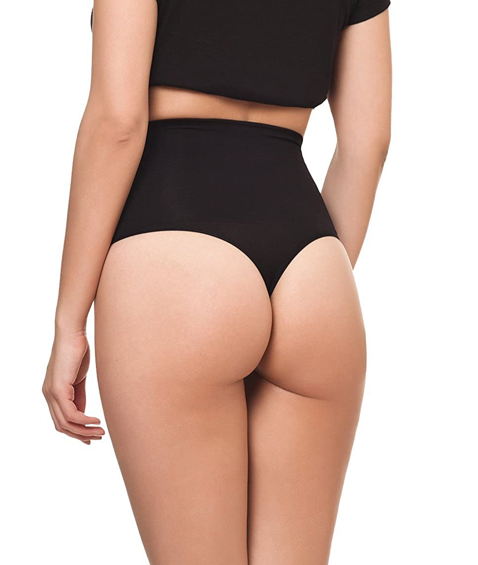 cbf827ea5617 Channo Pack de 4 - Faja Tanga Baja reafirmante sin Costuras: Amazon ...