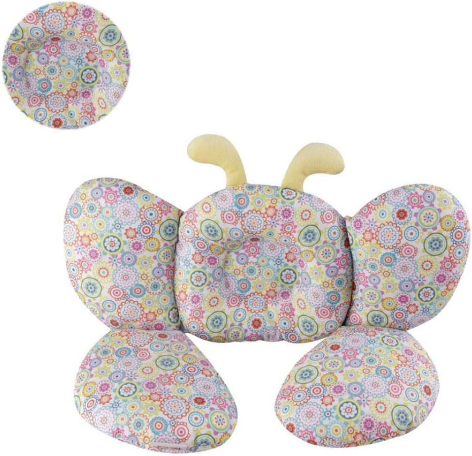 Babies Soft Head Neck Support Children Travel Car Seat Safety Pillow Cushion Stroller Head Support for Toddlers Infants Child Colorful