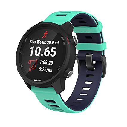 ANCOOL Compatible with Vivoactive 3 Watch Band,Soft Silicone 20mm Quick Release Replacement Sport Strap for Garmin Vivoactive 3/Forerunner 645/Samsung ...