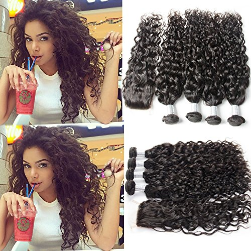 Guangxun-Hair-7A-Water-Wave-4-Bundles-With-4x4-Free-Part-Lace-Closure-Unprocessed-Brazilian-Virgin-Hair-Bundles-With-Lace-Closure-Natural-Color