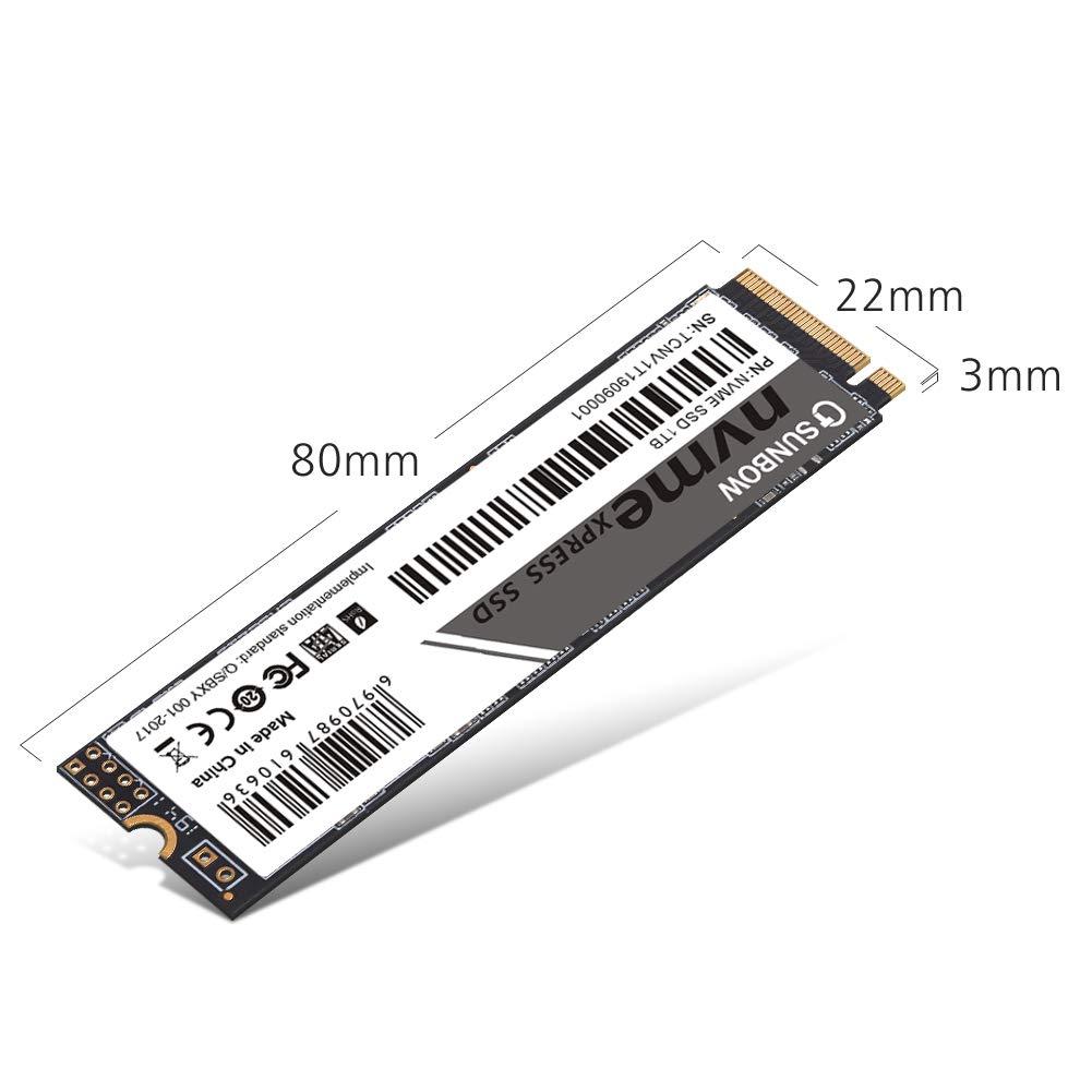 TCSUNBOW SSD M.2 2280 PCIe Express GEN3.0x4 NVMe Unidad de Estado s/ólido NVME 128GB