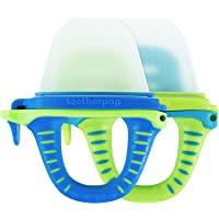 teetherpop 2 Pack Fillable, Freezable Baby Teether for Breastmilk, Purees, Water, Smoothies, Juice & More (BlueLime…