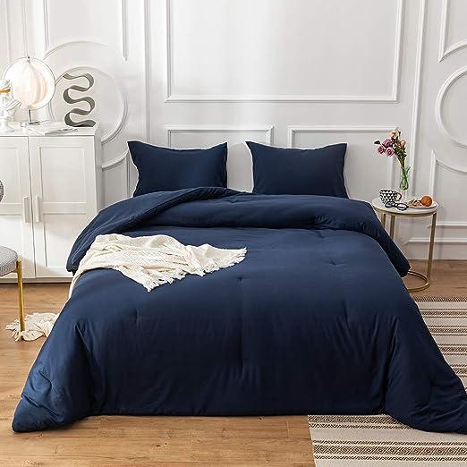 Amazon.com: Jumeey Navy Blue Comforter King Size Men Women Navy