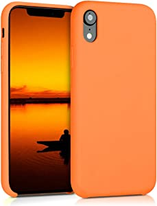 kwmobile TPU Silicone Case Compatible with Apple iPhone XR - Soft Flexible Rubber Protective Cover - Cosmic Orange