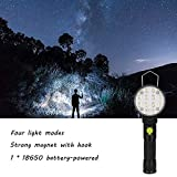 Fenleo LED Work Light Magnet Flashlight With Hook Folding Torch for Hunting,Cycling,Climbing,Camping and Outdoor Activity