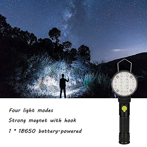 Fenleo LED Work Light Magnet Flashlight With Hook Folding Torch for Hunting,Cycling,Climbing,Camping and Outdoor Activity by Fenleo