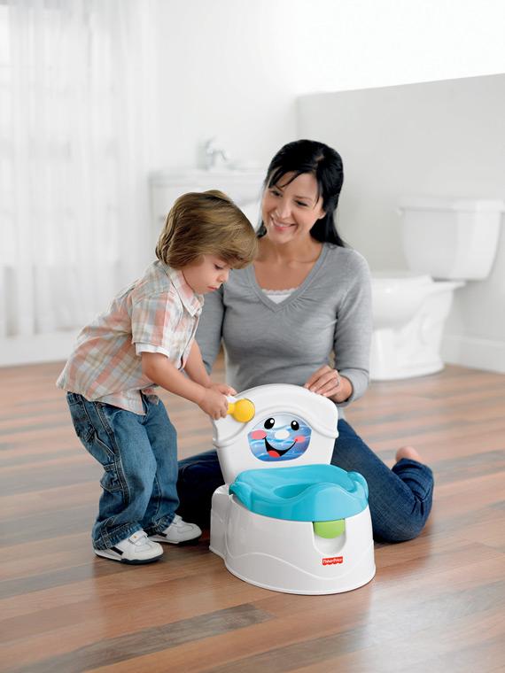 Amazon Com Fisher Price Learn To Flush Potty Toilet