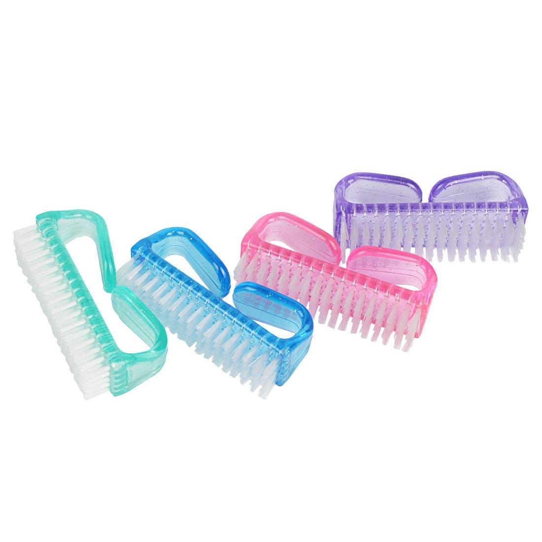 4 piezas Andux Zone Clavo de limpieza de mano de limpieza de mano cepillo MJS-02