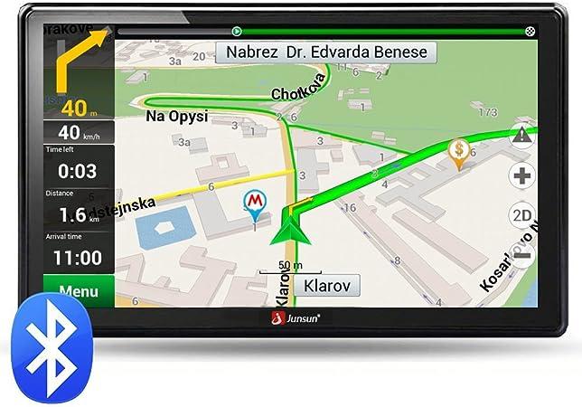 Junsun - Navegador GPS con pantalla HD de 7 pulgadas, Windows CE 6.0, 8 GB de memoria, actualización de mapas gratuita: Amazon.es: Hogar