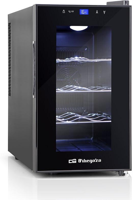 Orbegozo VT 810 - Vinoteca 8 botellas, 70 W, 25 l, LED, display ...