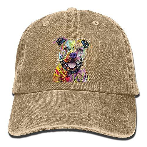 Cute colorful Pitbull DIY Print Winter Fashion Cotton Baseball Cap Adjustable Trucker Hats For Outdoor - Australia Bulls Snapback Chicago