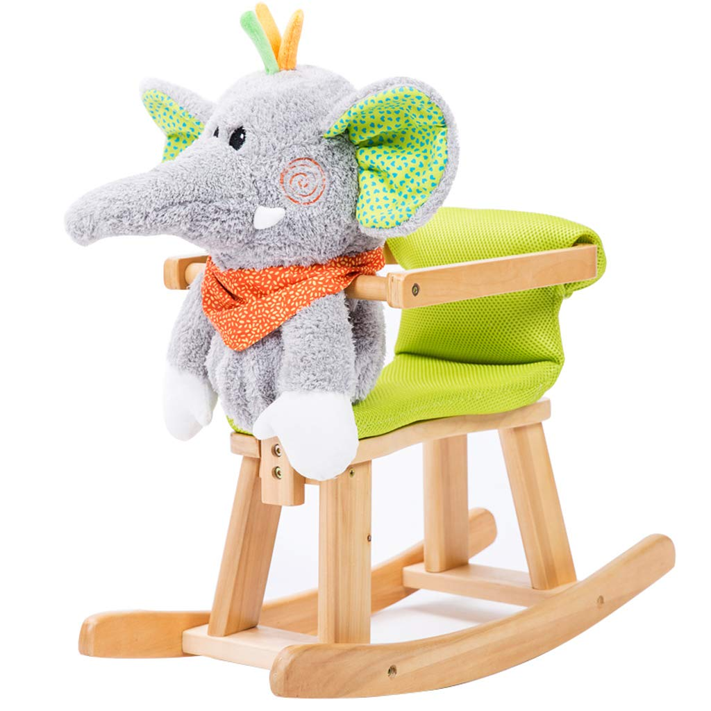 Amazon.com : Childrens Wooden Horse Rocking Horse Solid ...