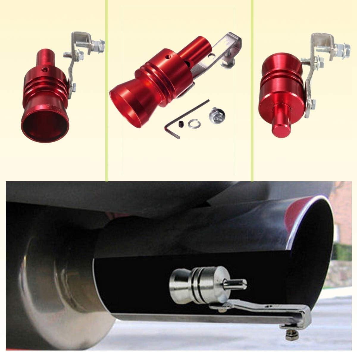 New Multi-Purpose Car Turbo Whistle-Aluminum Turbo Sound Whistle Exhaust Pipe Tailpipe Blow-off Valve Simulator BLACK GR/ÖSSE XL