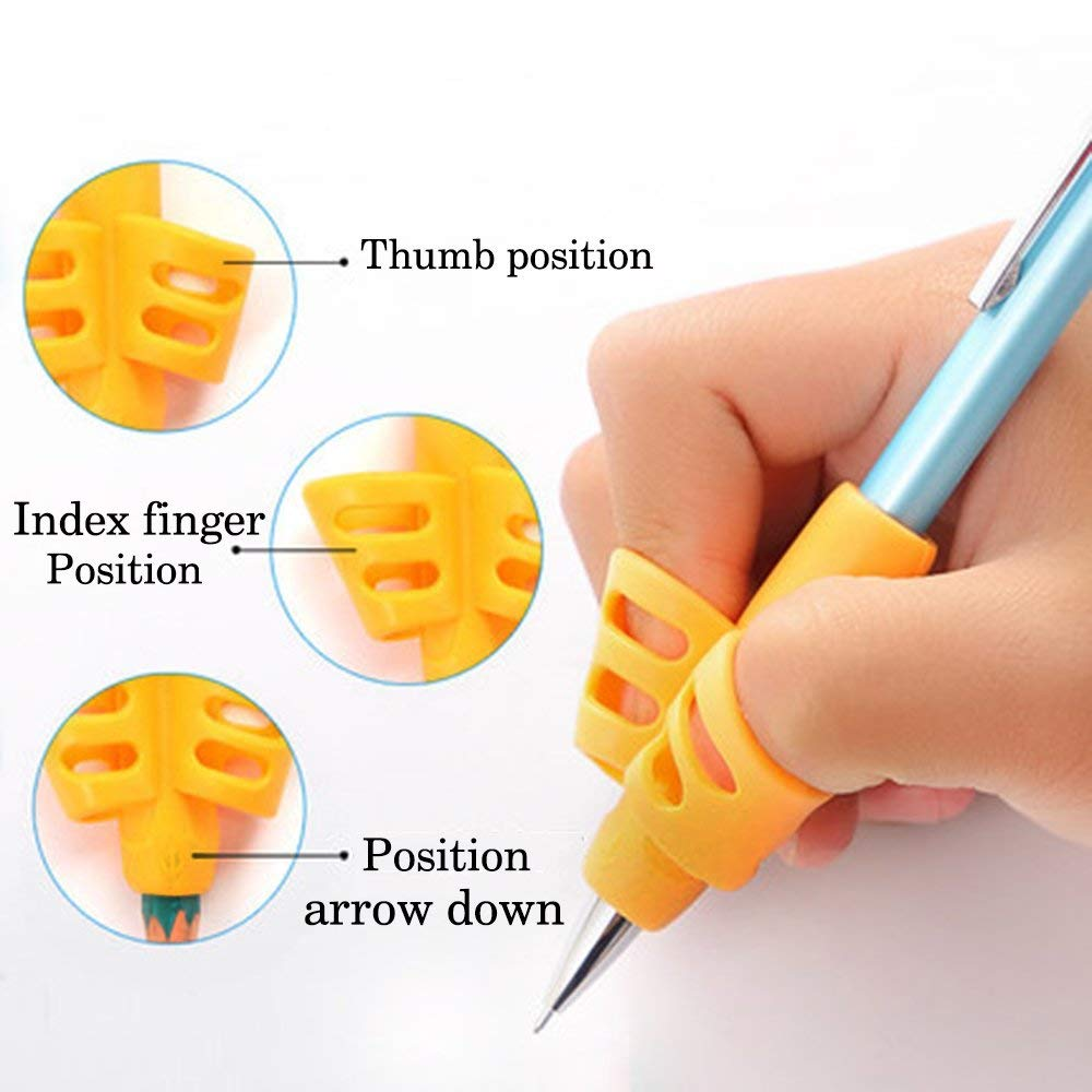 Pencil Grips - JuneLsy Pencil Grips for Kids Handwriting Pencil Grip Posture Correction Training Writing AIDS for Kids Toddler Preschoolers Students Children Special Needs (3Pack) by JuneLsy (Image #7)