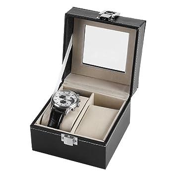 Caja para Relojes con 2 compartimentos, Estuche para Relojes ...